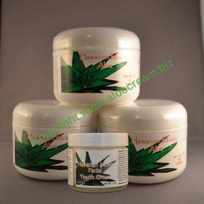 Three Hawaiian Moon 9oz jars and a free Hawaiian Moon Facial Youth Cream
