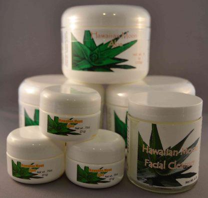 Three Hawaiian Moon 9oz jars with three free .75oz travel jars and a free Hawaiian Moon Facial Cleanser