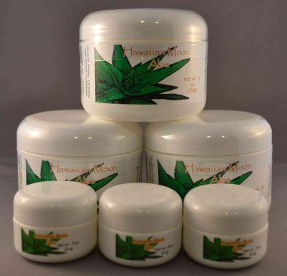 Three Hawaiian Moon 9oz jars with three free .75oz travel jars