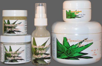 Hawaiian Moon 9oz Aloe Cream with Hawaiian Moon Facial Products